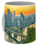 Pittsburgh Orange Skyline Coffee Mug