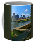 Pittsburgh Pennsylvania Skyline And Bridges As Seen From The North Shore Coffee Mug by Amy Cicconi