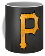 Pittsburgh Pirates Baseball Vintage Logo License Plate Art Coffee Mug