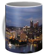 Pittsburgh Skyline At Dusk From Mount Washington Coffee Mug