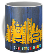 Pittsburgh Skyline License Plate Art Coffee Mug by Design Turnpike