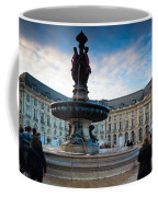 Place De La Bourse Buildings At Dusk Coffee Mug