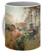Place Du Theatre Francais Paris Coffee Mug by Eugene Galien-Laloue