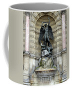 Place Saint Michel Statue And Fountain In Paris France Coffee Mug