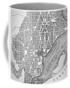 Plan Of The City Of Washington As Originally Laid Out In 1793 Coffee Mug