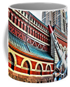 Plane In The City Coffee Mug