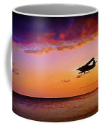 Plane Pass At Sunset Coffee Mug