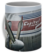 Plane Vintage Capital Airlines Coffee Mug by Paul Ward
