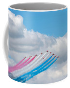 Planes Fly In Airshow Coffee Mug