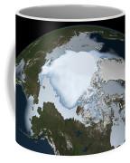 Planet Earth Showing Sea Ice Coverage Coffee Mug