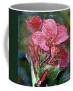 Plastic Wrapped Pink Flower By Diana Sainz Coffee Mug
