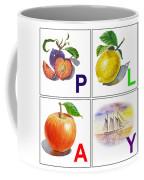 Play Art Alphabet For Kids Room Coffee Mug by Irina Sztukowski