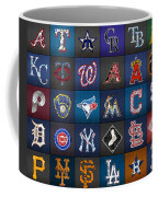 Play Ball Recycled Vintage Baseball Team Logo License Plate Art Coffee Mug