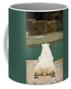 Playful Polar Bear Coffee Mug by Adam Romanowicz