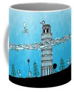 Playful Tower Of Pisa Coffee Mug by Gianfranco Weiss