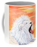 Playful White Lion Coffee Mug