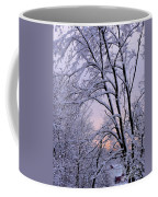 Playhouse Through Snow Coffee Mug