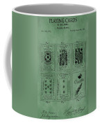 Playing Cards Patent Green Coffee Mug