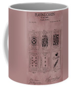 Playing Cards Patent Red Coffee Mug