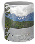 Playing In Colter Bay In Grand Teton National Park-wyoming Coffee Mug