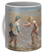 Playing In The Shallows Coffee Mug by William Marshall Brown