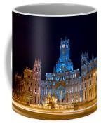 Plaza De Cibeles At Night In Madrid Coffee Mug
