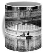 Plaza De Espana Rowboats Bw Coffee Mug