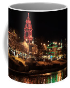Plaza Time Tower Night Reflection Coffee Mug