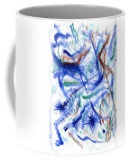 Plume Bleues Coffee Mug