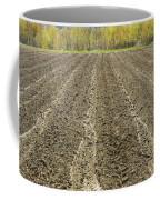 Plowed Spring Farmland Ready For Planting In Maine Coffee Mug