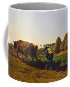 Plowing Scene Coffee Mug