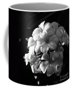 Plumeria Black White Coffee Mug