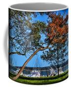 Plymouth Harbor In Autumn Coffee Mug