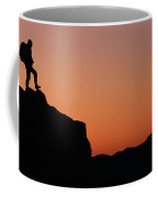 P.morrow Hiking, East End Of Mt Rundle Coffee Mug