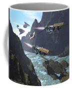Pod Racers Competing For The Lead Coffee Mug