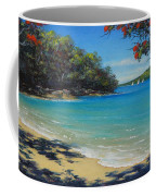 Pohutukawa Nz - Beach And Rangitoto  Coffee Mug