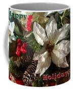 Poinsetta Christmas Card Coffee Mug