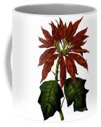 Poinsettia A Traditional Christmas Plant Vintage Poster Coffee Mug