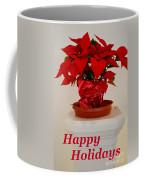 Poinsettia On A Pedestal - No 2 Coffee Mug