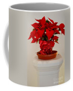 Poinsettia On A Pedestal No 1 Coffee Mug