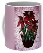 Poinsettias Expressive Brushstrokes Coffee Mug