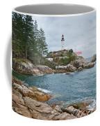 Point Atkinson Lighthouse And Rocky Shore Coffee Mug