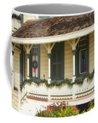 Point Fermin Lighthouse Christmas Porch Coffee Mug