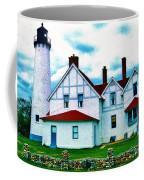 Point Iroquois Lighthouse Coffee Mug