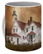 Point Iroquois Lighthouse Michigan Coffee Mug