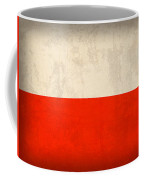 Poland Flag Distressed Vintage Finish Coffee Mug by Design Turnpike
