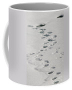 Polar Bear Footprints Coffee Mug