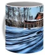 Pole Barns In The Winter Coffee Mug