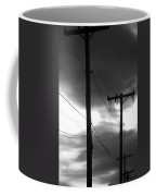 Poles And Sunsets In Black And White Coffee Mug