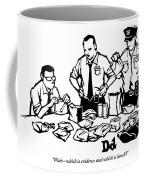 Police Detectives Search Through A Table Coffee Mug